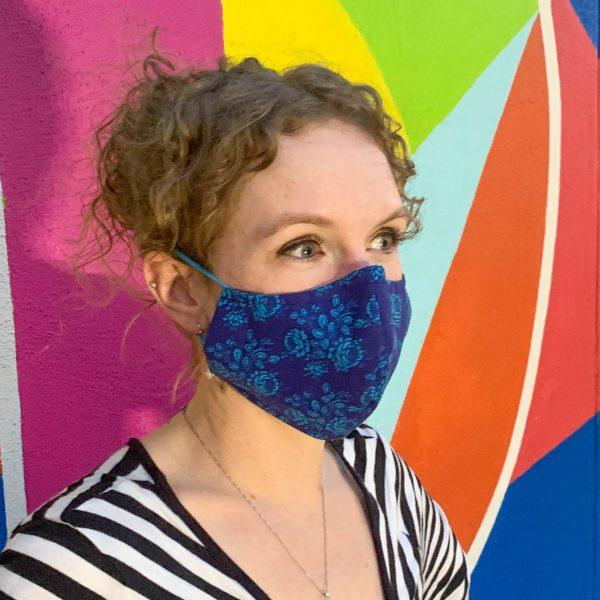 dark blue cloth face mask